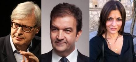 Vittorio Sgarbi, Mario Occhiuto e Jole Santelli