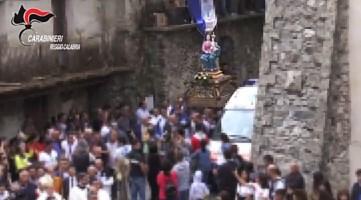 Madonna di Polsi, portatori abusivi allontanati. Tra questi anche figlio e nipote del boss