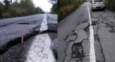 Le strisce disegnate sulle strade disastrate fanno infuriare i cittadini