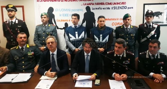 Sequestri a Reggio, conferenza stampa