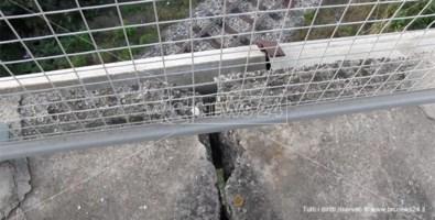 Crepe su un ponte a Catanzaro, i tecnici: «Nessun pericolo di crollo»