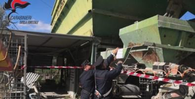 Impianto di calcestruzzi sequestrato a Scala Coeli: denunciato il proprietario