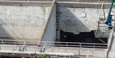 La parete crollata