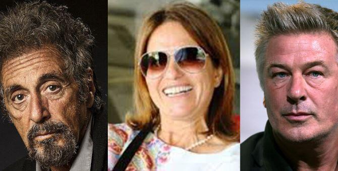 Da sinistra: Al Pacino, Filomena Greco, Alec Baldwin