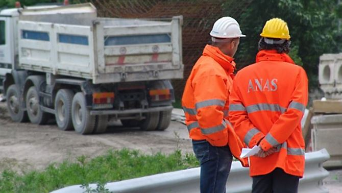 Dipendenti Anas al lavoro