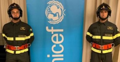 Unicef e vigili del fuoco insieme per celebrare la Giornata mondiale dell'infanzia