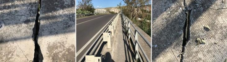 Crepe su un ponte a Catanzaro, scatta l'allarme. Sopralluoghi e strada chiusa al traffico
