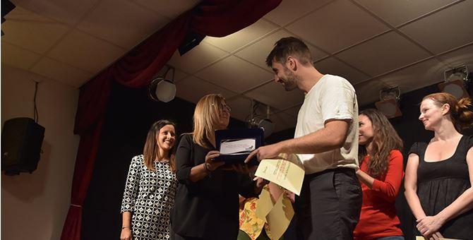 Il momento della premiazione di Antonio Anzillotti De Nitto