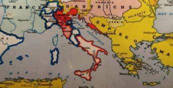 La cartina che segna i confini europei tra il 1815 e il 1856