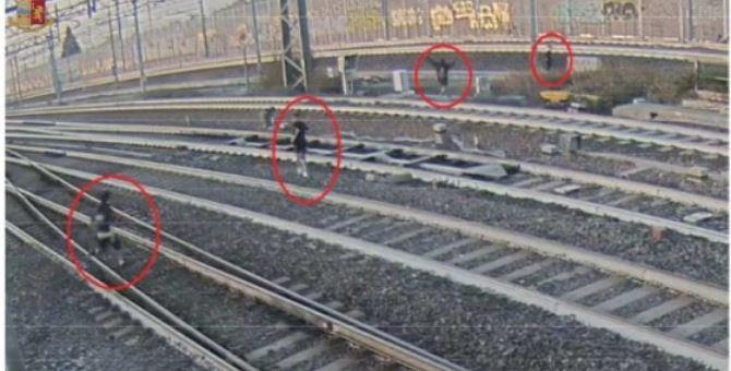 L'immagine diffusa dalla Polizia ferroviaria