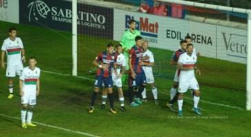 Un momento della partita tra Vibonese e Ternana