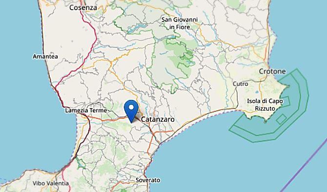 Terremoto nel Catanzarese