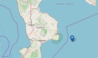 Terremoto al largo di Crotone