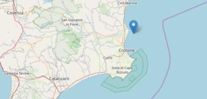 Ancora una scossa, terremoto di magnitudo 3.7 nel Crotonese