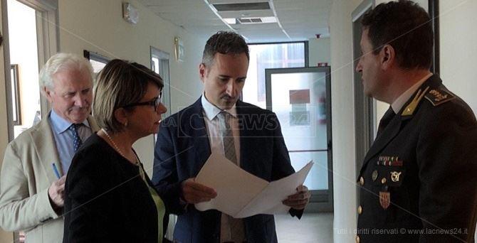 Il sindaco Maria Limardo e il comandante provinciale della Gdf Roberto Prosperi