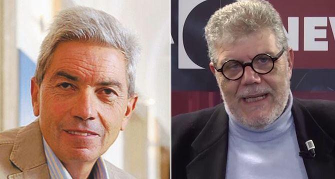 Antonio Padellaro e Pasquale Motta