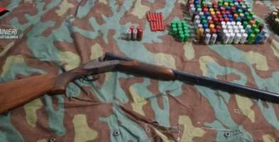 Controlli a Sant'Ilario dello Jonio, sequestrato un fucile e 170 cartucce