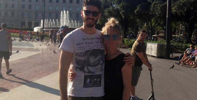 Luca Sacchi con la fidanzata