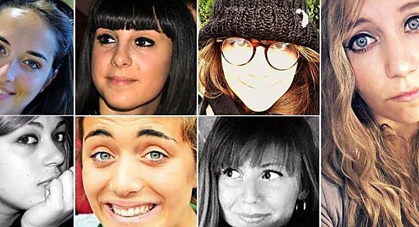 Le vittime italiane della strage in Spagna (foto Il Secolo XIX)