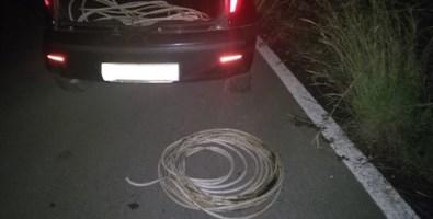 Beccato a rubare cavi in rame dalla pubblica illuminazione, arrestato