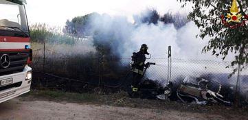 Incendio a Crotone