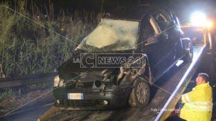 L'auto in cui morirono quattro giovani a Rende