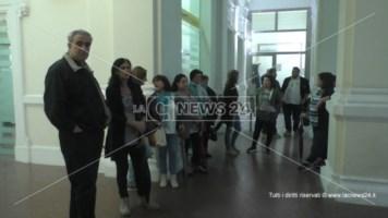 Da mesi senza stipendio, a Reggio la protesta degli addetti alle pulizie delle Poste
