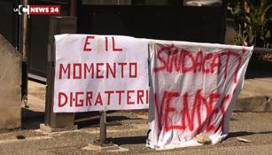 La protesta degli operatori sanitari idonei