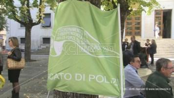 Arriva anche a Cosenza la protesta del sindacato di polizia