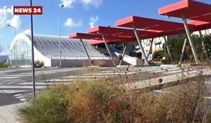 Il terminal bus di Rosarno nel degrado