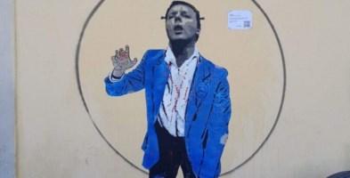 """Renzi come uno zombie, a Firenze il murales di """"Italia morta vivente"""""""
