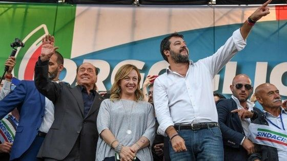 I leader del centrodestraalla manifestazione di Roma