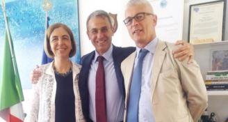 Margherita Corrado, Sergio Costa e Nicola Morra