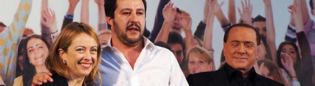 Meloni, Salvini e Berlusconi