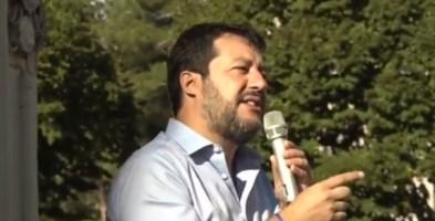 Salvini a Montecastrilli, in Umbria