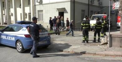 Polizia e Vigili del fuoco intervenuti
