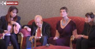 I genitori di Nicholas Green a Polistena