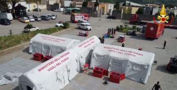 Calamità e grandi disastri, a Catanzaro le esercitazioni dei vigili del fuoco