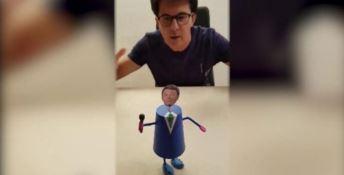 Renzi popstar:  l'attacco d'arte di Muciaccia per spiegare la scissione Pd