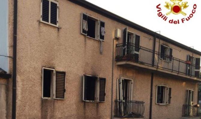 Incendio a Bisignano