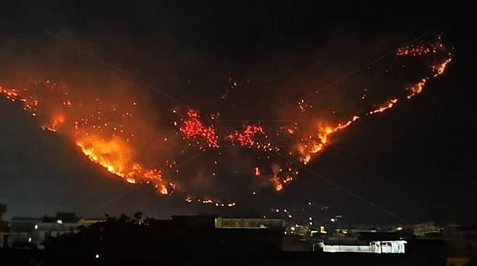 Incendio monti Sarno