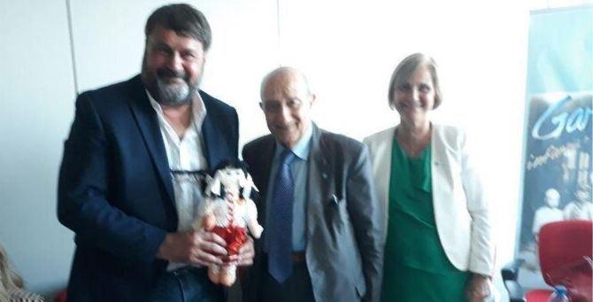 Nella foto da sinistra: il garante Massimo Pagani, il presidente Unicef Francesco Samengo e la consigliera nazionale Unicef Anna Miccoli