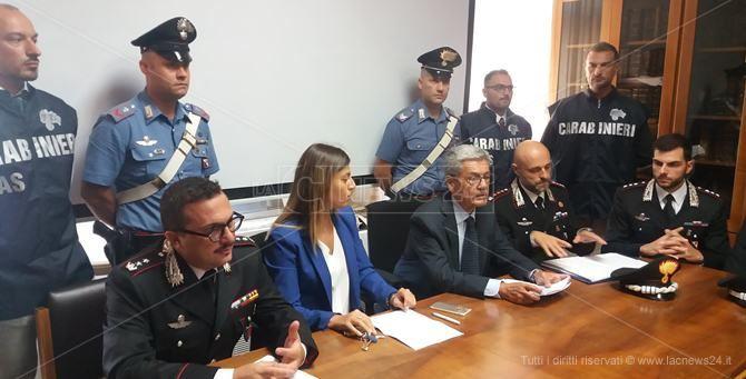 La conferenza stampa dell'operazione Ricettopoli