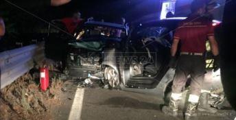 Le auto coinvolte nell'incidente stradale a Nocera