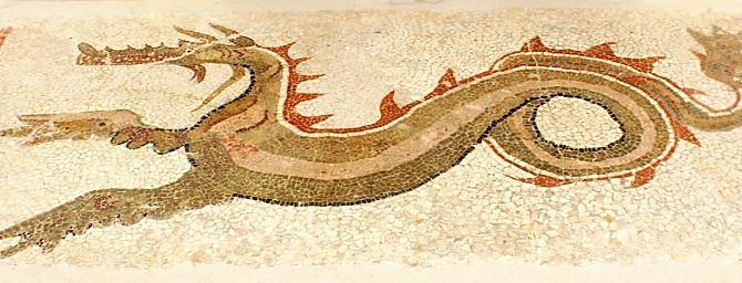 Il mosaico del drago al Museo di Monasterace