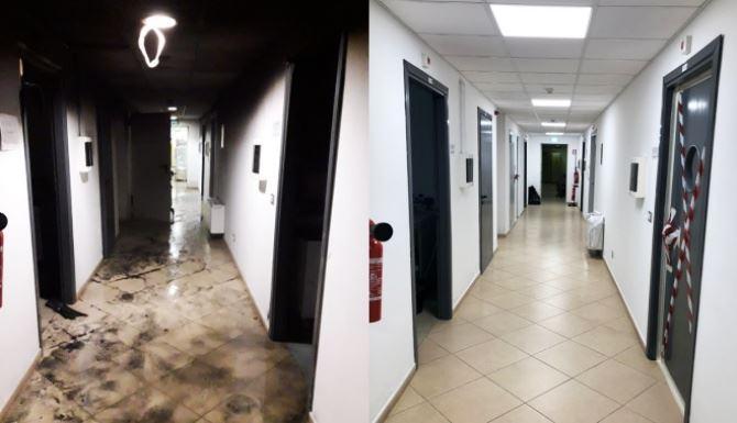 Il laboratorio Arpacal distrutto da un incendio