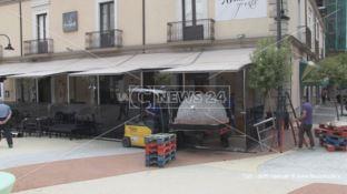 Cosenza, rimosso il forno abusivo di Piazza Riforma