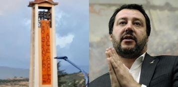 Cosenza, il vangelo secondo Matteo in contrapposizione all'arrivo di Salvini