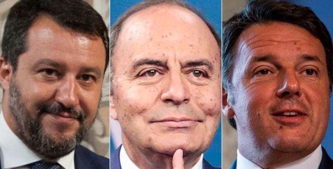 Matteo Salvini, Bruno Vespa e Matteo Renzi