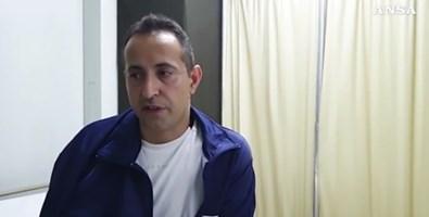 Roberto Caldarulo, caporalmaggiore dell'Esercito italiano in un frame del video ansa